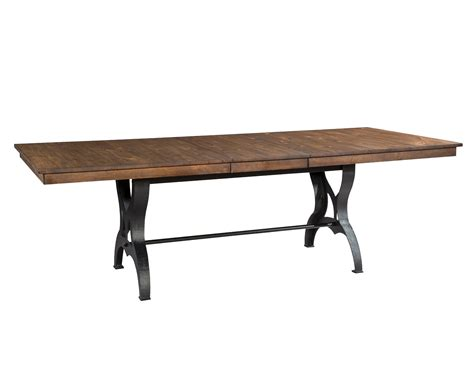 solid birch dining table birch and metal 6 dining set with bench district
