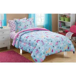 Wallmart Comforters Mainstays Kids Puppy Love Bed In A Bag Bedding Set