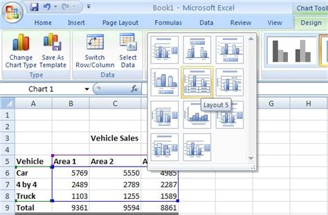 layout in excel excel tutorial changing your chart layout