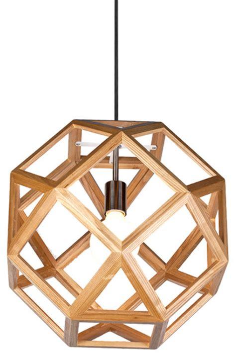 interior pendant lighting geometry wooden shade interior pendant pendant lighting