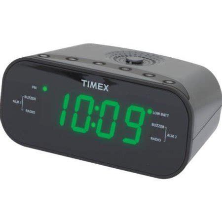 timex am fm dual alarm clock radio walmart