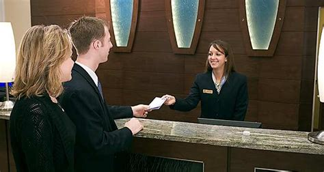 hotel front desk clerk different in a hotel