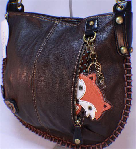 chala purse handbag leather hobo cross foxy fox brown ebay