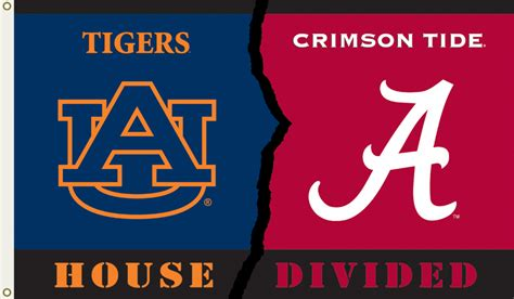 house divided auburn alabama house divided flag www tailgatingfanatic com
