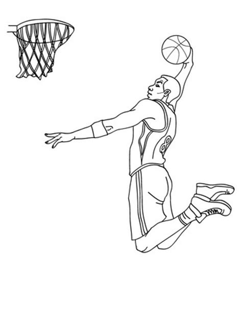 Basketball Player Coloring Basketball Player Coloring Pages