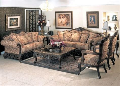 traditional antique style formal living room furniture set newport baroque style fabric formal living room furniture