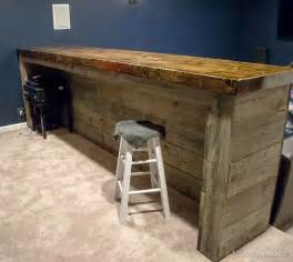 How To Make A Wood Bar Top Cave Wood Pallet Bar Free Diy Plans