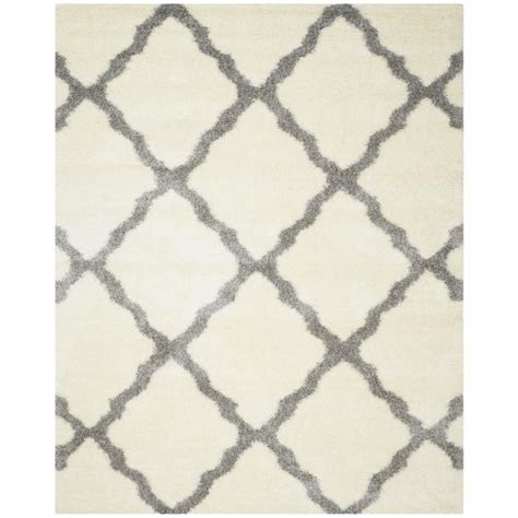 Area Rugs Montreal Shop Safavieh Montreal Portneuf Shag Ivory Gray Indoor