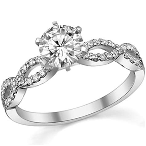 moissanite infinity twisted engagement ring 0