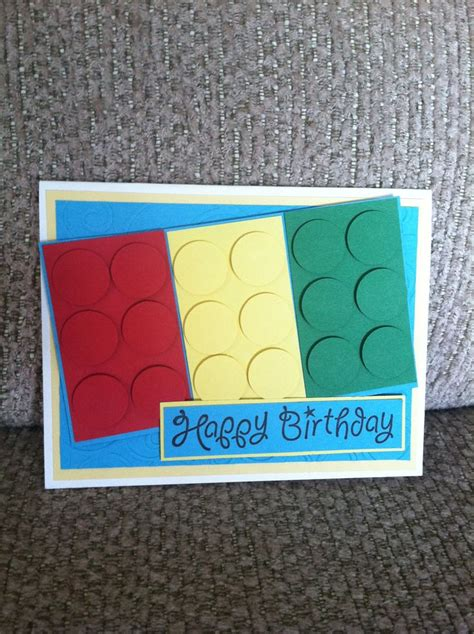 Lego Birthday Cards Lego Birthday Card Bday Ideas Pinterest