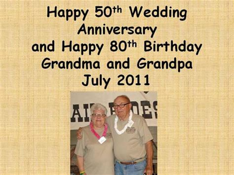 Happy 50th Wedding Anniversary Powerpoint Authorstream 50th Wedding Anniversary Slideshow