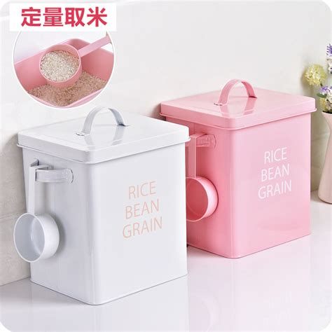 Buket Box Kado Bunga Box fashion sheet iron rice barrels multifunctional large flour storage laundry powder
