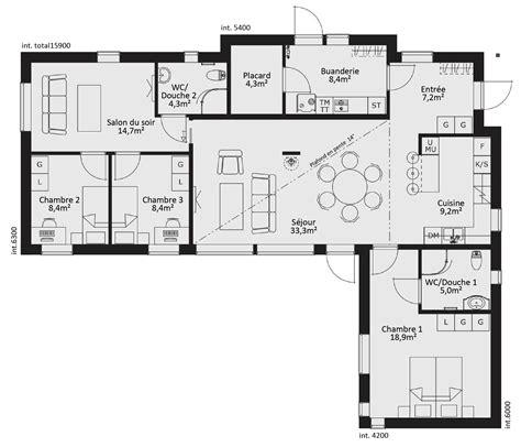 Plan Maison Plain Pied 50m2 Maison Ossature Bois Projet plan de maison en bois gratuit plain pied segu maison