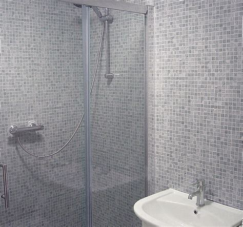 grey mosaic bathroom gray shower tile tile showers 100 shower niche size