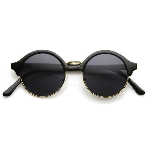 Half Frame Sunglasses new unique half frame circle vintage professor