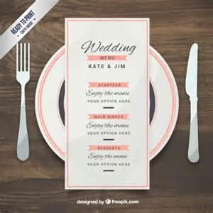 Wedding Menu Sles Templates by Mod 232 Le De Menu De Mariage Dans Un Style 233 L 233 Gant