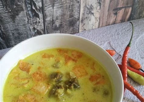 resep soto daging kuah santan oleh melati hardison cookpad