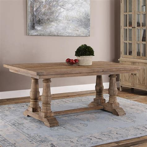 gamble rustic lodge reclaimed fir wash dining table