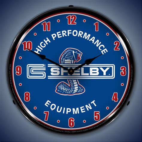 Lighted Wall Clock shelby lighted wall clocks cobra gt500 snake shelby logo
