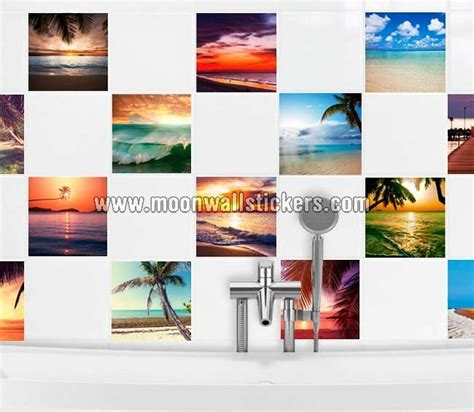 ceramic tile stickers bathroom tiles stickers beach paradise