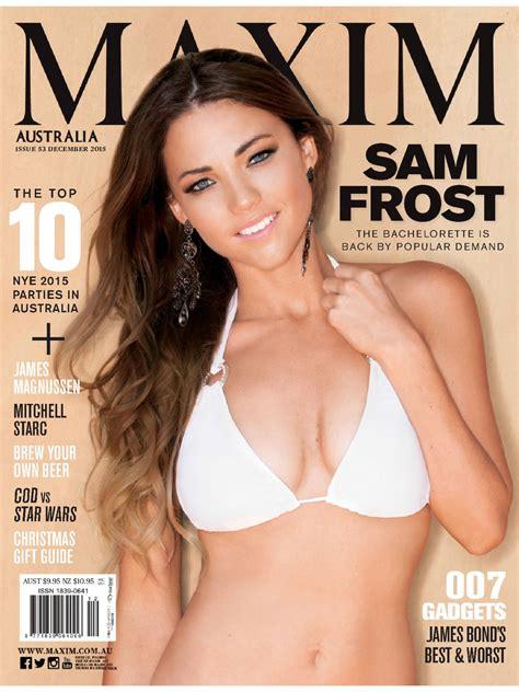 photos hot pdf sam frost bikini pics maxim magazine australia