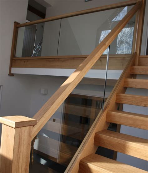 glass banister for stairs view our popular staircase gallery with traditional oak
