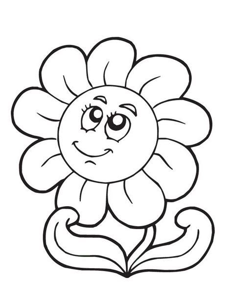 cartoon flowers coloring home