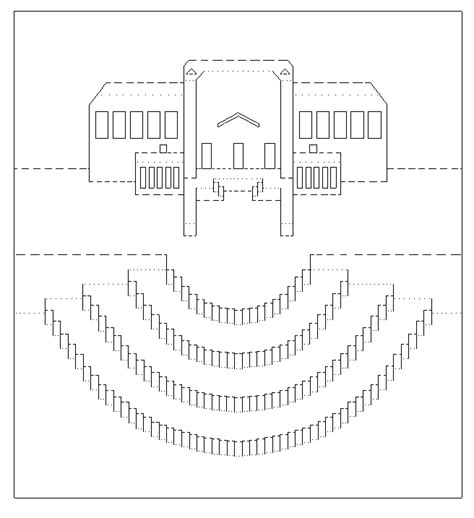 pattern kirigami house free printable kirigami patterns joy studio design
