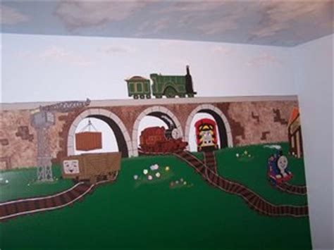 Thomas The Train Wall Mural gretchen s creations with your inspirations all aboard