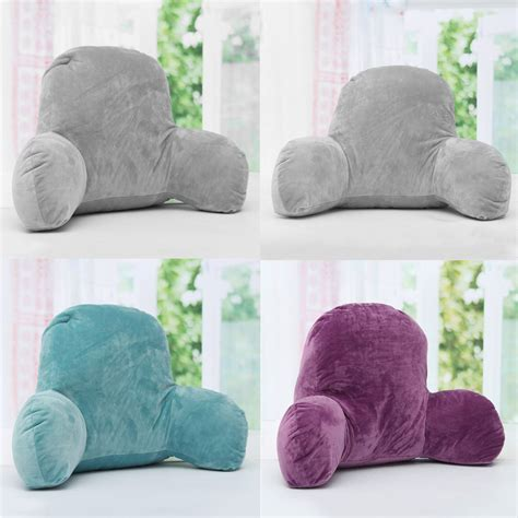backrest bed pillow lounger bed rest pillow backrest back arm support relax plush cushion reading ebay