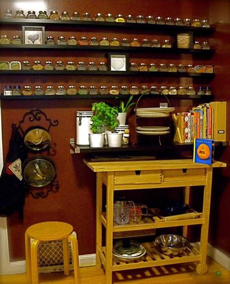 diy narrow spice rack use ikea picture ledges to hold spices great if you need