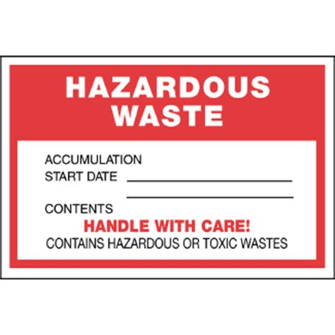 Hazardous Waste Label 6 Quot X 4 Quot Thermalabel Blank Icc Canada Online Store Free Hazardous Waste Label Template