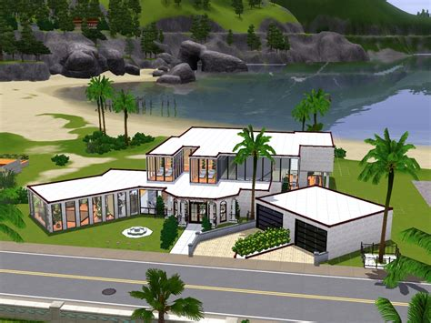 Sims House Ideas Designs Xbox Modern Home Design House Plans 85229
