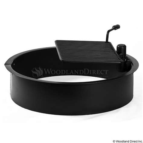 rockwood steel insert and cooking grate for ring pit