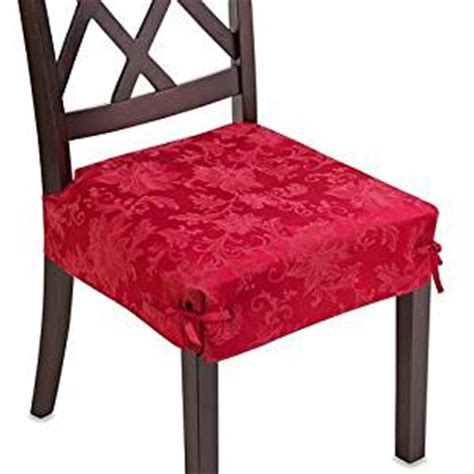 red dining room chair covers amazon com holiday joy ruby red set of 2 dining room
