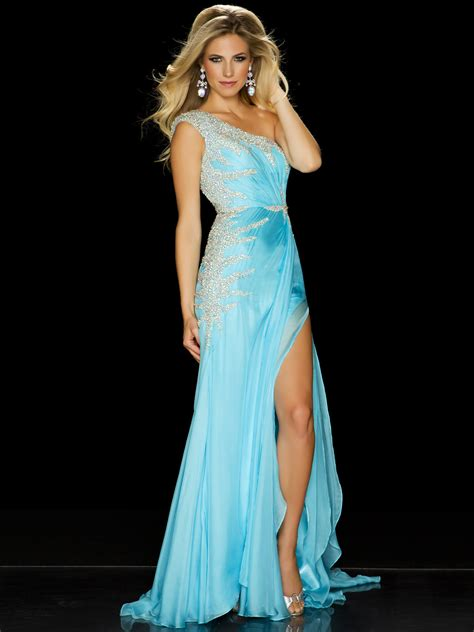 Pageant Dresses by One Shoulder Mac Duggal Cap Sleeve A B Covered