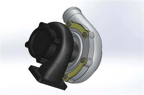 tutorial turbo solidworks garrett gt 30 and 35 turbo solidworks 3d cad model