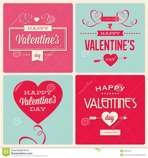s day card design template set of valentines day card design royalty free stock photo