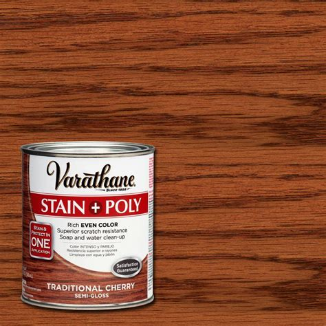 Varathane Wood Finish Interior by Varathane 1 Qt Traditional Cherry Stain And Polyurethane
