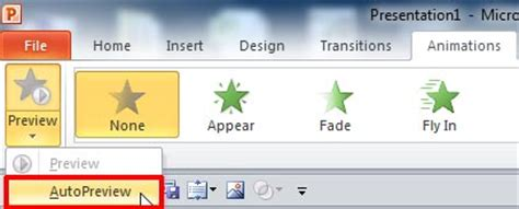 disable auto layout during animation turn off animation preview powerpoint notes