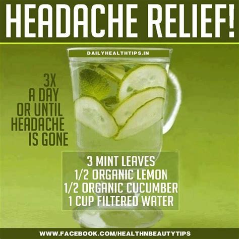 migraine remedies headache relief health