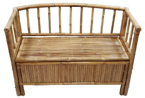 bamboo bench bar bamboo storage bench tropical furniture tiki bar central