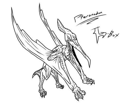 pteranodon coloring page coloring pages