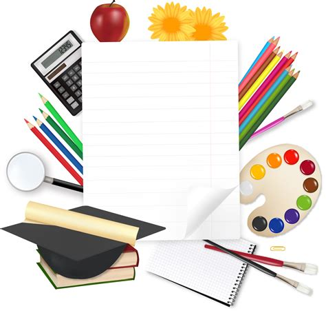 stationery layout vector learn stationery 05 vector free vector 4vector
