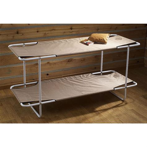 bunk bed cot guide gear 174 c bunk bed khaki 71676 cots at