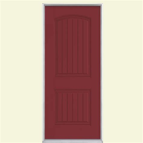Fiberglass Exterior Doors Home Depot Masonite 32 In X 80 In Cheyenne 2 Panel Painted Smooth