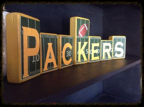 green bay packers home decor green bay packers blocks and home decor i make customized