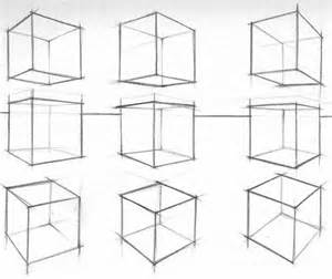 how to draw a cube in perspective because there are no measuring графика pinterest