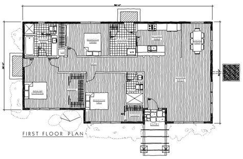 timber floor plans timber frame modern 4 plan