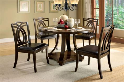 walnut dining room sets keukenhof dark walnut round pedestal dining room set